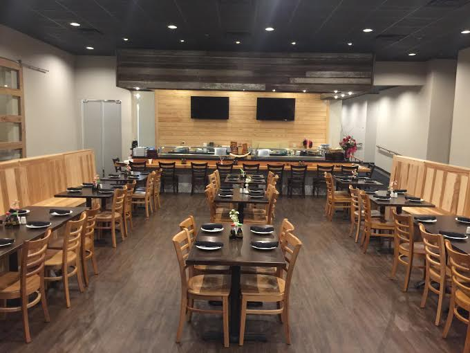 Our man dining room, overlooking the sushi bar, where our very talented chef's will hand-craft every piece of sushi.